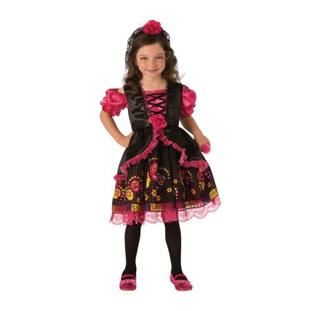 Day of the Dead Girls Costume - Girls Day Of The Dead Costume