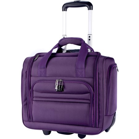 Protege - 16 Rolling Under-Seater Luggage - Purple - Walmart.com 861a80142a906