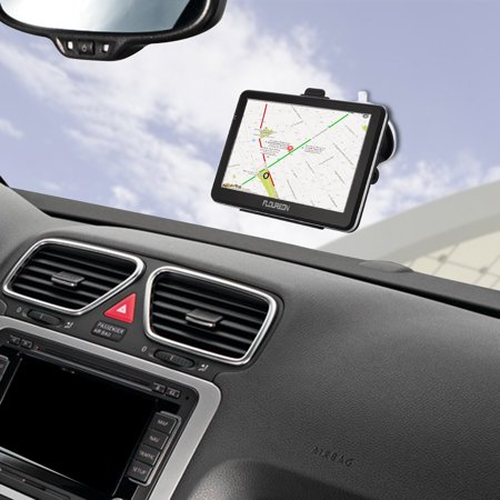 FLOUREON 7 Inch Capacitive LCD Touch Screen Truck&Car GPS Navigation SAT NAV Navigator Lifetime Map Updates (Best Sat Nav For Motorhomes 2019)