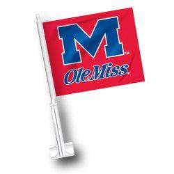NCAA Mississippi Rebels Car Flag Set of 2