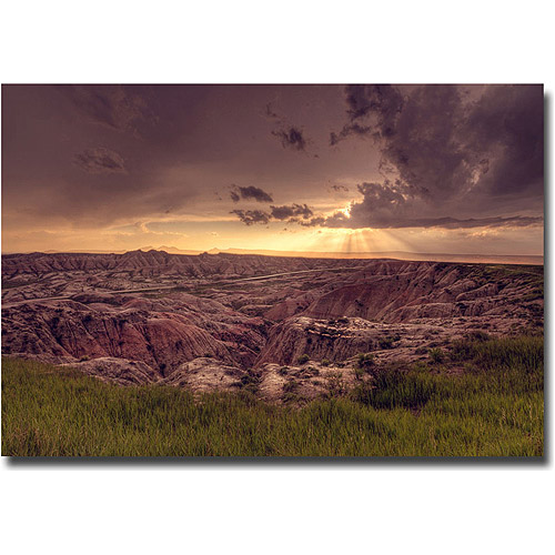 "Trademark Fine Art ""Badlands Sunset"" Canvas Wall Art by Ariane Moshayedi"