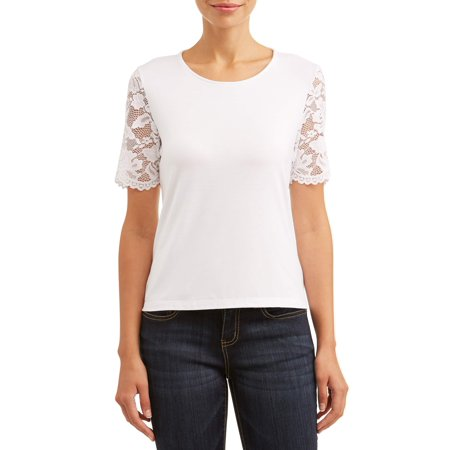Women's Lace Sleeve Top