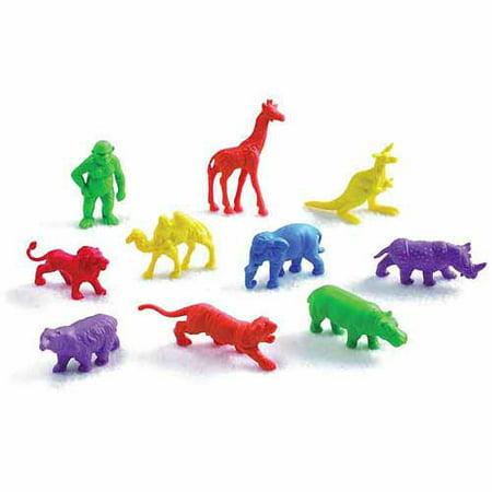 School Smart Wild Animals Manipulative Counters Assorted Wild Animals