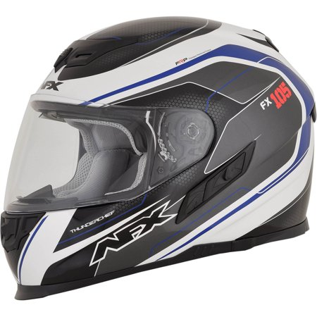 AFX FX-105 Full Face Helmet (Thunder Chief Blue Gloss, X-Large) - Master Chief Deluxe Helmet