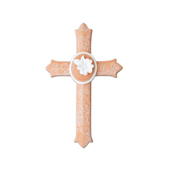 12.5 x 7.625 in. Decorative Floral Ceramic Wall Cross - Pack of 8 - image 1 of 1