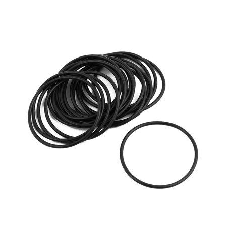 20Pcs Black Round Nitrile Butadiene Rubber NBR O-Ring 43mm OD 1.9mm Width