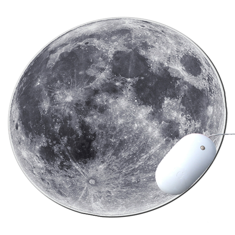 KuzmarK Round Mousepad / Hot Pad / Trivet - Full Moon