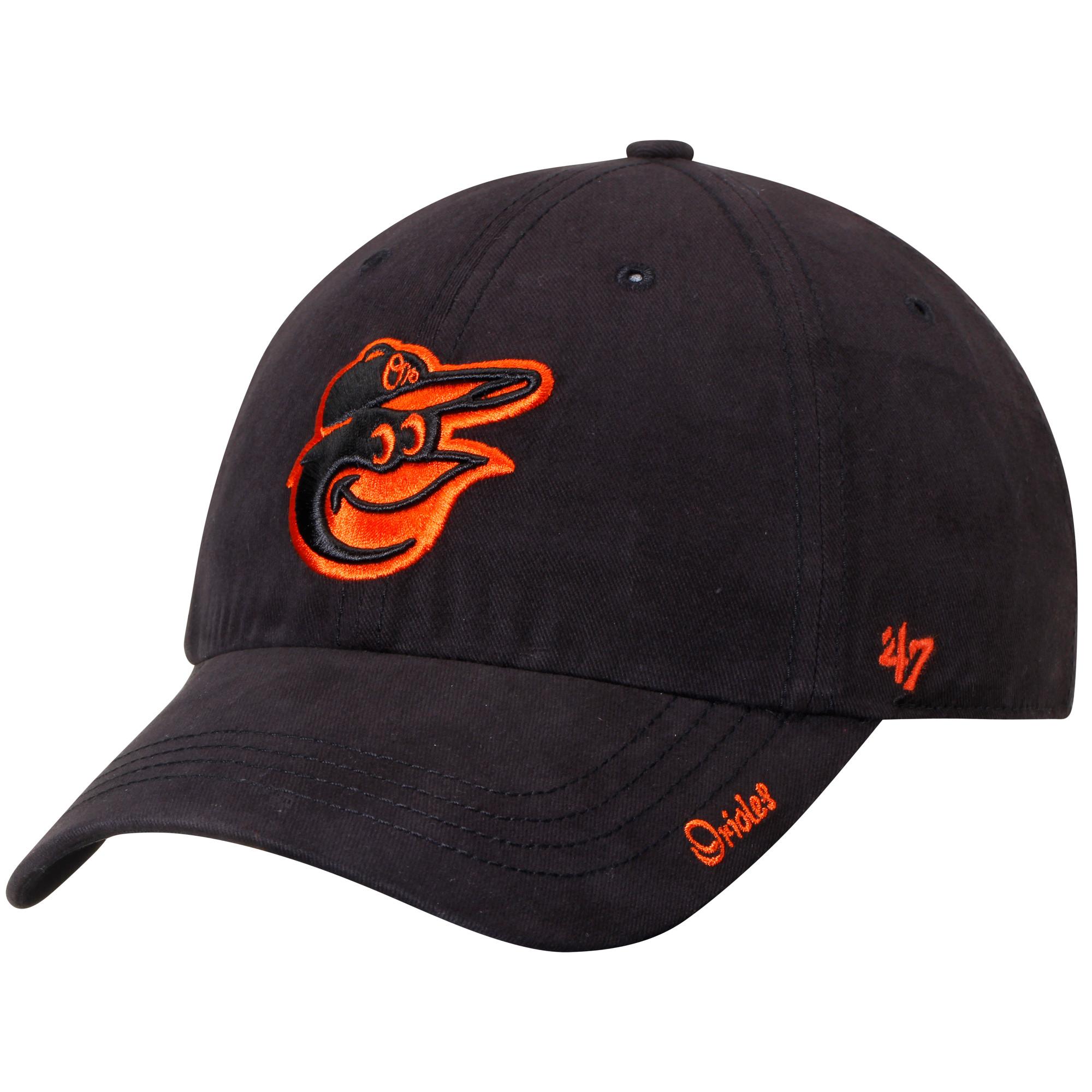 Baltimore Orioles '47 Women's Miata Clean Up Adjustable Hat - Black - OSFA