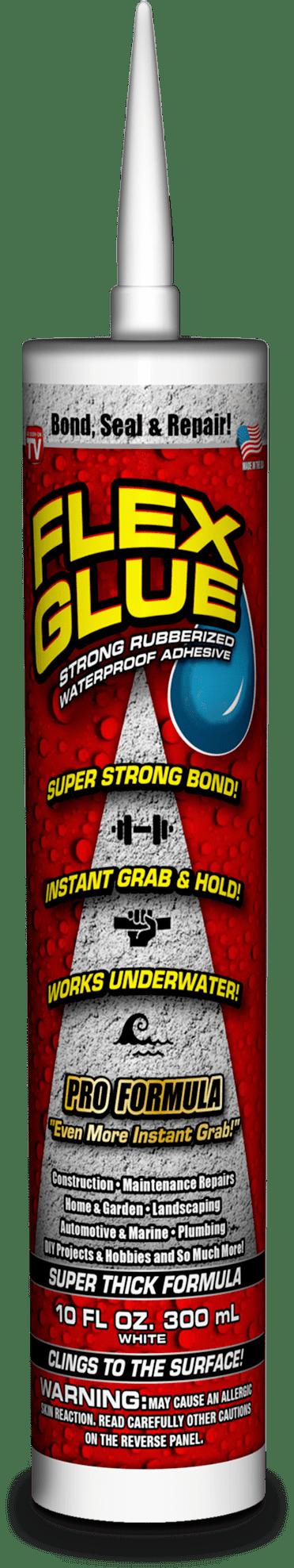 Flex Glue Strong Rubberized Waterproof Adhesive, 10-oz Pro Formula by Swift Response, LLC