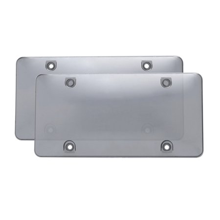 AkoaDa 1/2Pcs Tinted Clear Smoked Car License Plate Tag Frame Cover Shield Car Truck (License Plate Cover Tint)