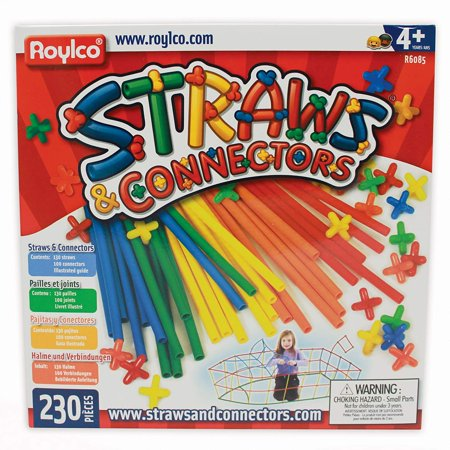 Straw Connectors (Straws and Connectors Building Kit - Pack of 230 - Assorted Colors By)