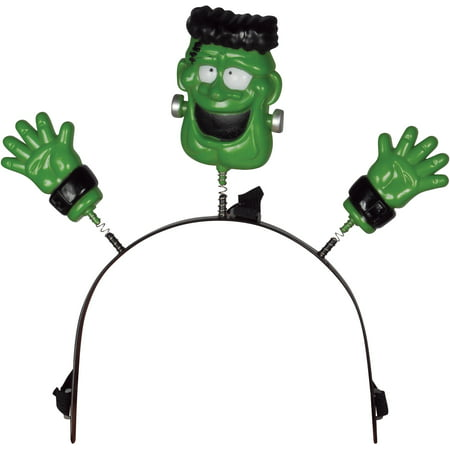 Loftus Child Halloween Lightup Frankenstein Headband Boppers, Green, 4.5