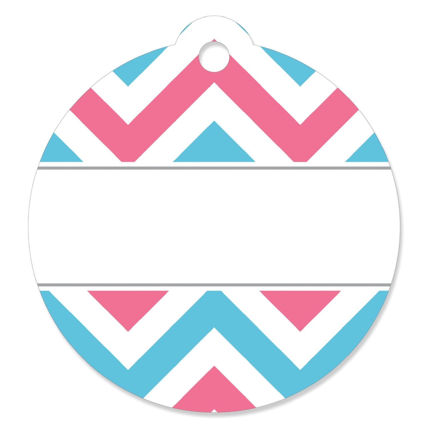 Chevron Gender Reveal - Baby Shower Party Favor Tags (Set of 20)