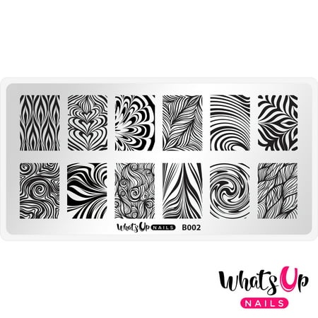 Whats Up Nails - B002 Water Marble to Perfection Stamping Plate Nail Art Design - Nail Art Halloween Water Marble