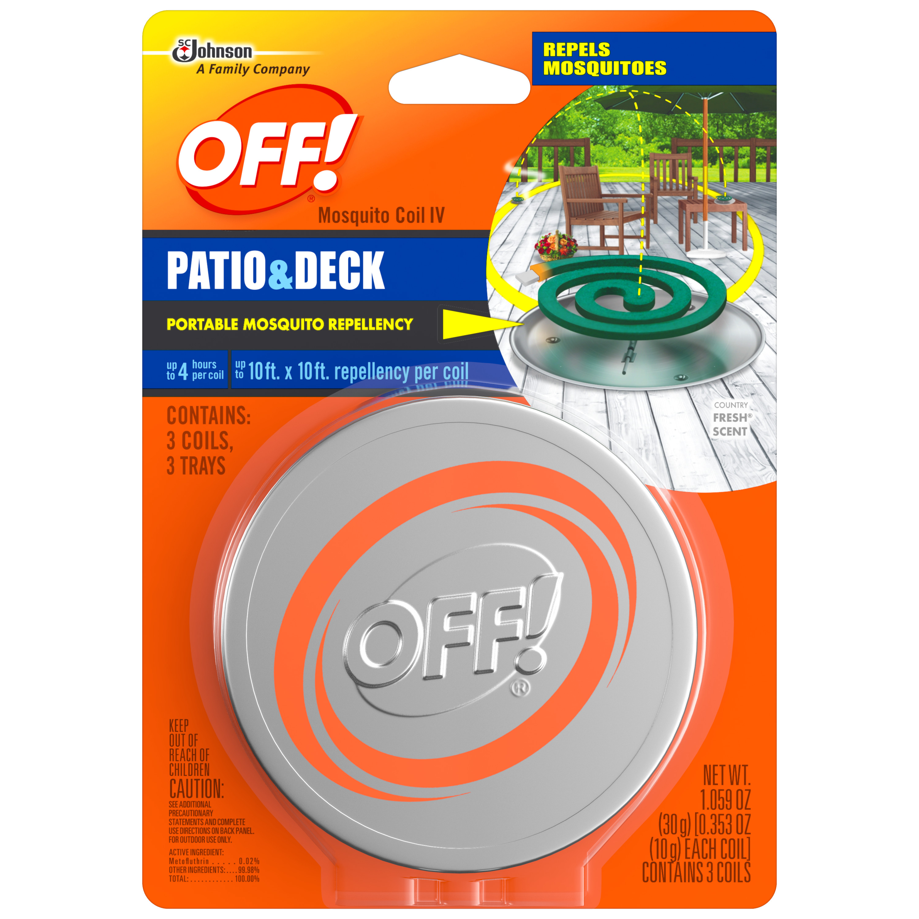 OFF! Mosquito Coil IV Starter Kit, 3 count, 1.059 Ounces
