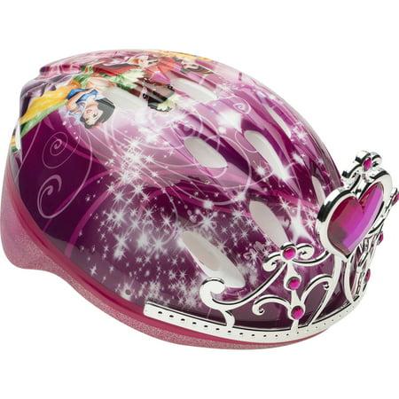 Pink Football Helmet (Bell Disney Princess 3D Tiara Bike Helmet, Pink, Child 5+)