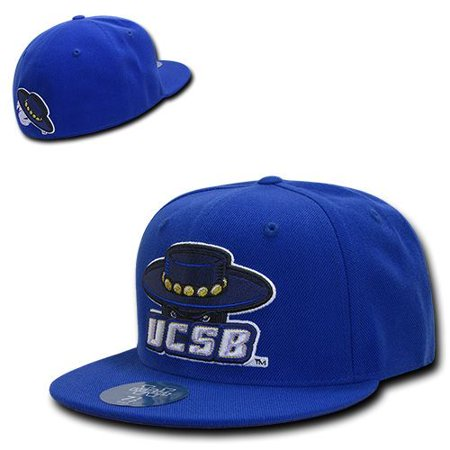 Blue UC Santa Barbara Gauchos UCSB NCAA Fitted Flat Bill Baseball Cap Hat - Spanish Gaucho Hat