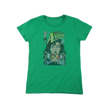 Superman DC Comics Lois Lane Secret Revealved Women's T-Shirt Tee (Lois Lane And Superman Costume)