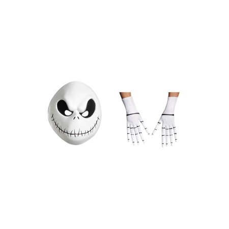 Jack Skellington Men Costume Mask and Gloves