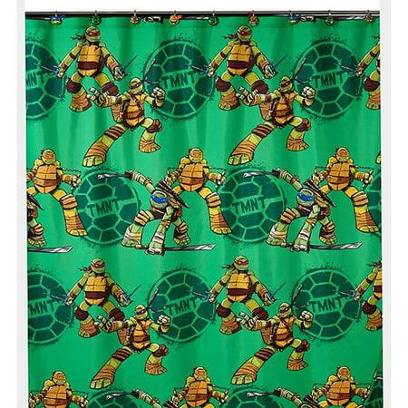 Teenage Mutant Ninja Turtles Shower Curtain, Hooks, Bath Towel, Wastebasket, and Bath Rug