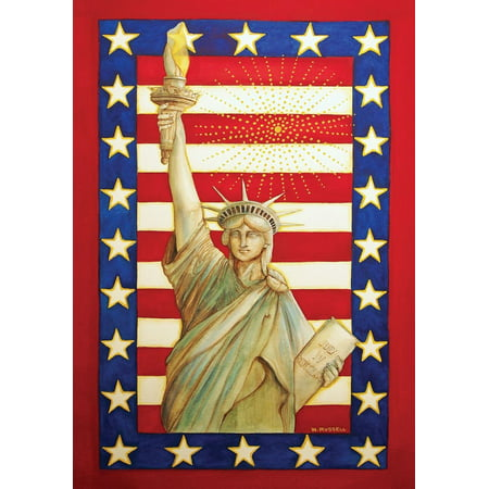 Lady Liberty Patriotic House Flag Fourth of July Statue of Liberty 28