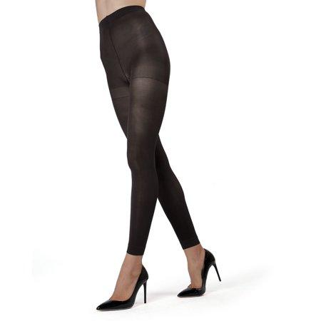 MeMoi Control Top Footless Tights | Women's Pantyhose - Hosiery Queen1/Queen2 / Black MO 321
