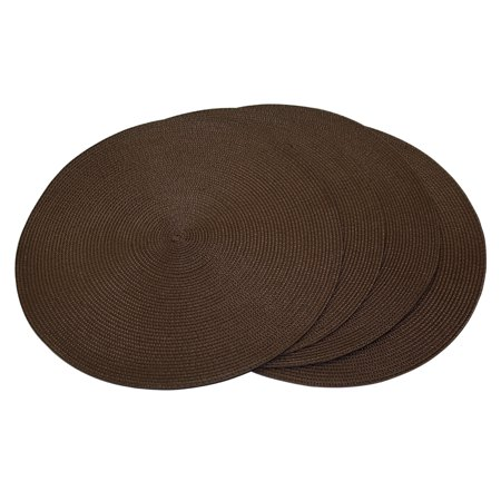 Set Of 4 Fine Woven Placemats Round 15 Quot Diameter Table