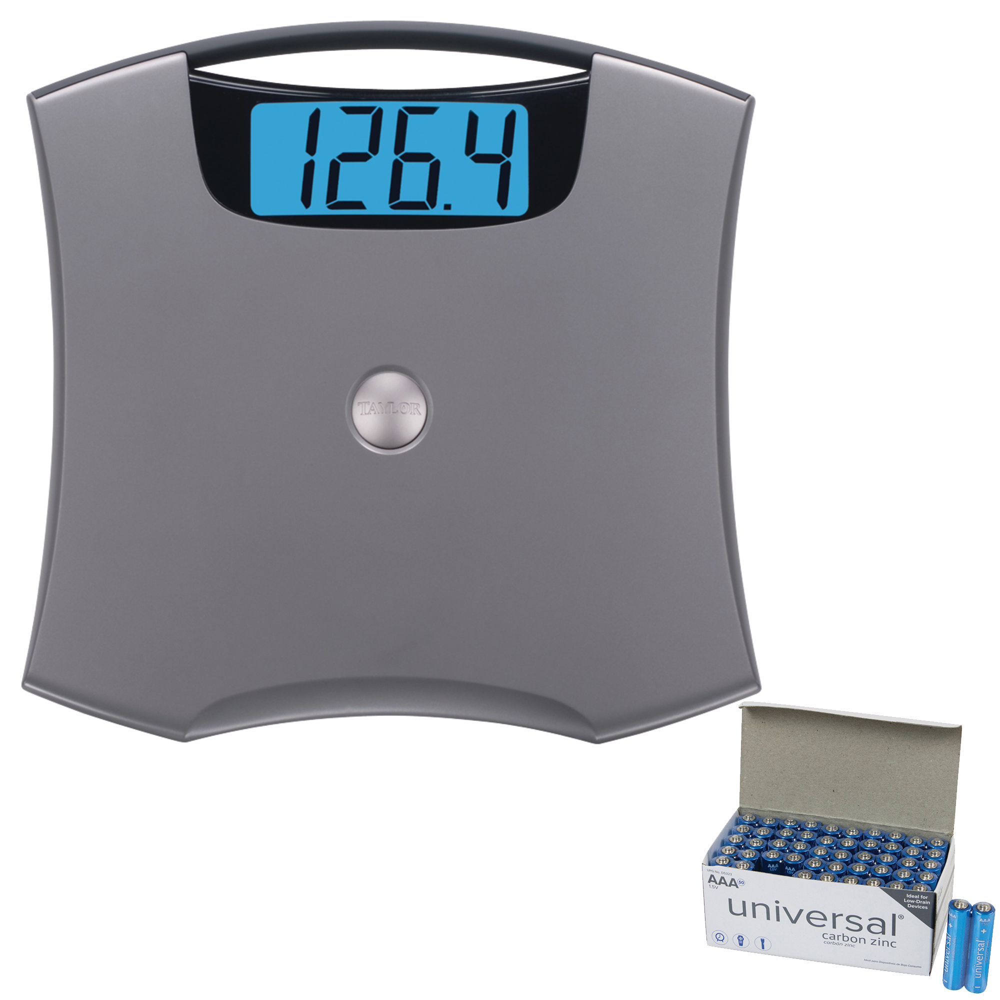 Taylor Precision Products 740541032 Digital Scale & UPG AAA 50 Pack