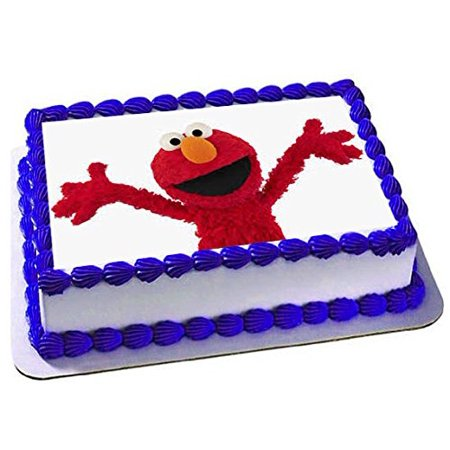 Seseme Street Elmo Cake Edible 1 4 Sheet Image Topper Birthday Party Favor Movie