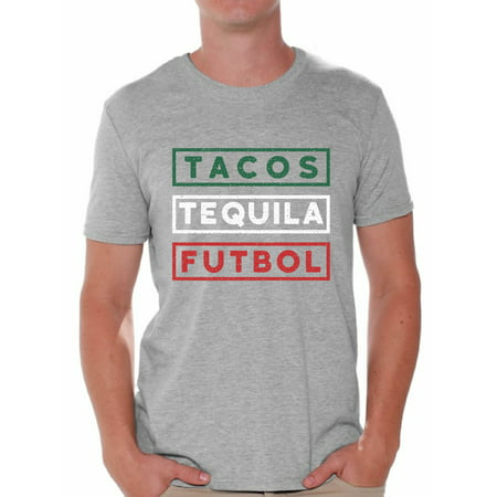 Awkward Styles Tacos Tequila Futbol Shirt for Men Mexico Shirt Tacos and Tequila Futbol Fan T Shirts Men's Mexican Soccer Tee Shirt Tacos & Tequila Tshirt Mexican Shirts Taco Tuesday Gifts for