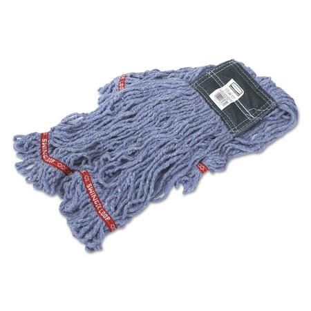 Large Web Foot Shrinkless Mop (Rubbermaid Commercial Swinger Loop Shrinkless Mop Heads, Cotton/Synthetic, Blue, Medium)