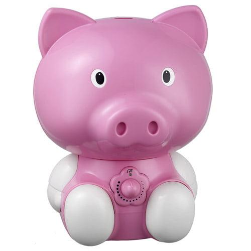 Sunpentown 1.8L Pink Pig Ultrasonic Humidifier by Sunpentown