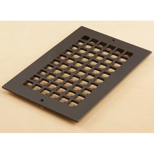 """Reggio Registers G812-AH Grid Series 10"""" x 6"""" Grille with Mounting Holes"""