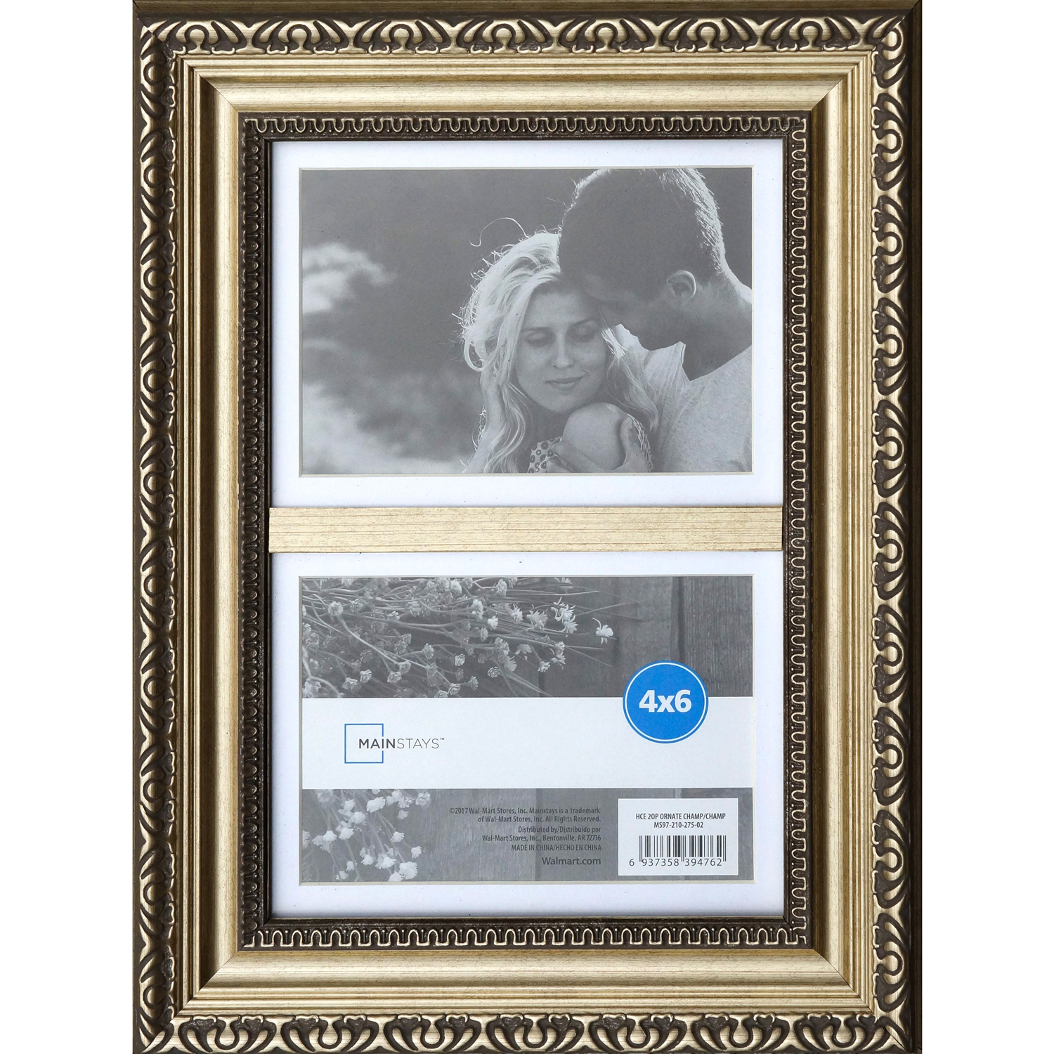 Mainstays 4x6 Ornate Champ Picture Frame, 4pk