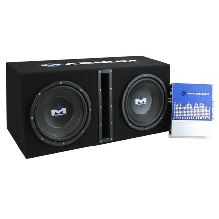 MTX Magnum MB210SP 10-Inch 400W RMS Dual Loaded Subwoofer Sub Box System Package Sub Air System