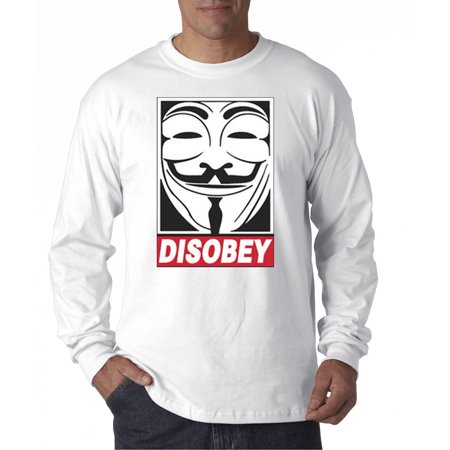 031 - Unisex Long-Sleeve T-Shirt Disobey V For Vendetta Anonymous Fawkes Mask](Anonymous Mask Sale)