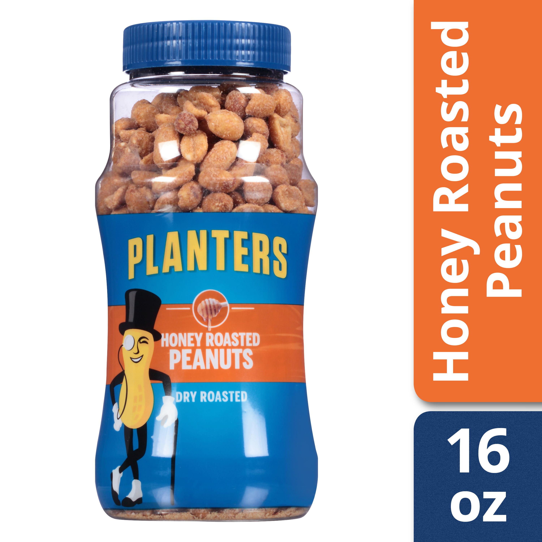 Planters Honey Roasted Peanuts, 16 oz Jar
