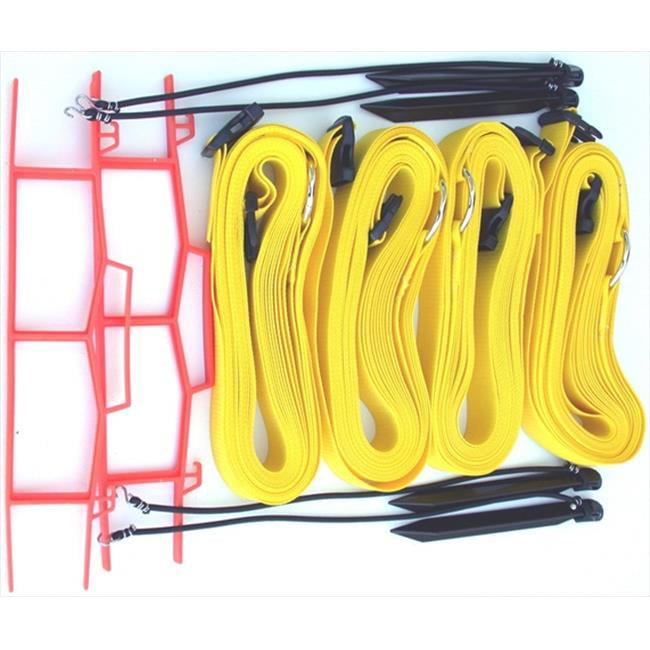 Home Court M819AYS 8 Meter Yellow 2-inch Adjustable Web Courtlines