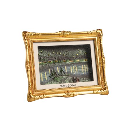 Van Gogh Painting Shadowbox Fridge Magnet - Mini Framed 3-D - 3