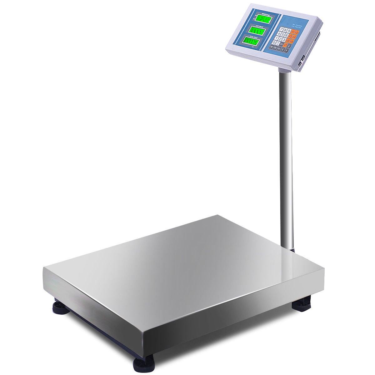 belupai 300KG//661lb LCD Digital Personal Floor Postal Platform Scale Blue