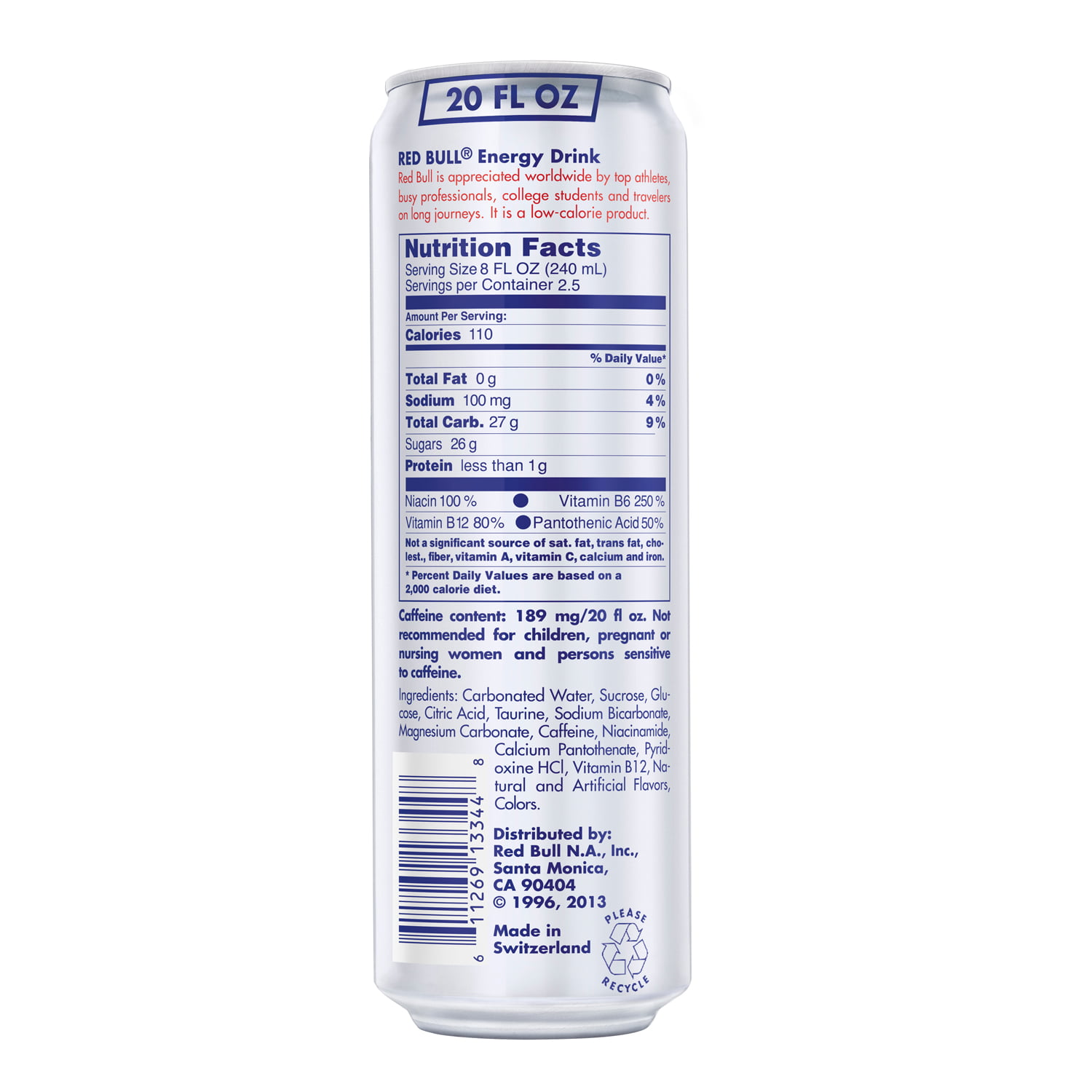 (1 Can) Red Bull Energy Drink, 20 Fl Oz - Walmart.com