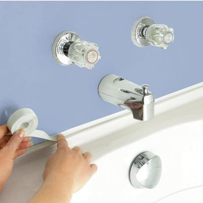 Flexible Adhesive Press On Bathtub Caulk Tape Walmart Com