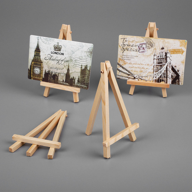 Ktaxon 10 Pack Mini Wooden Tripod Artist A-Frame Easel Stand for Studio Table Top Drawing Sketching Painting Kids/Children, Display Picture Wedding Canvas Holder