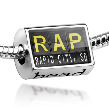 Bead RAP Airport Code for Rapid City, SD Charm Fits All European (Rapid City Women)