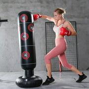 Fitness Punching Bag Heavy Punching Bag Inflatable Punching Tower Bag Boxing Kick Training Tumbler Bag for Kids Gift Training