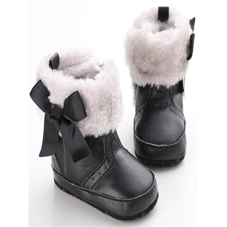 Baby Keep Warm Soft Sole Snow Boots Soft Crib Shoes Toddler