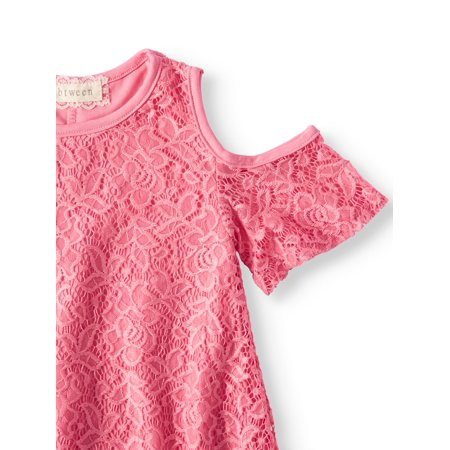 Btween Cold Shoulder Lace Swing Dress (Big Girls)