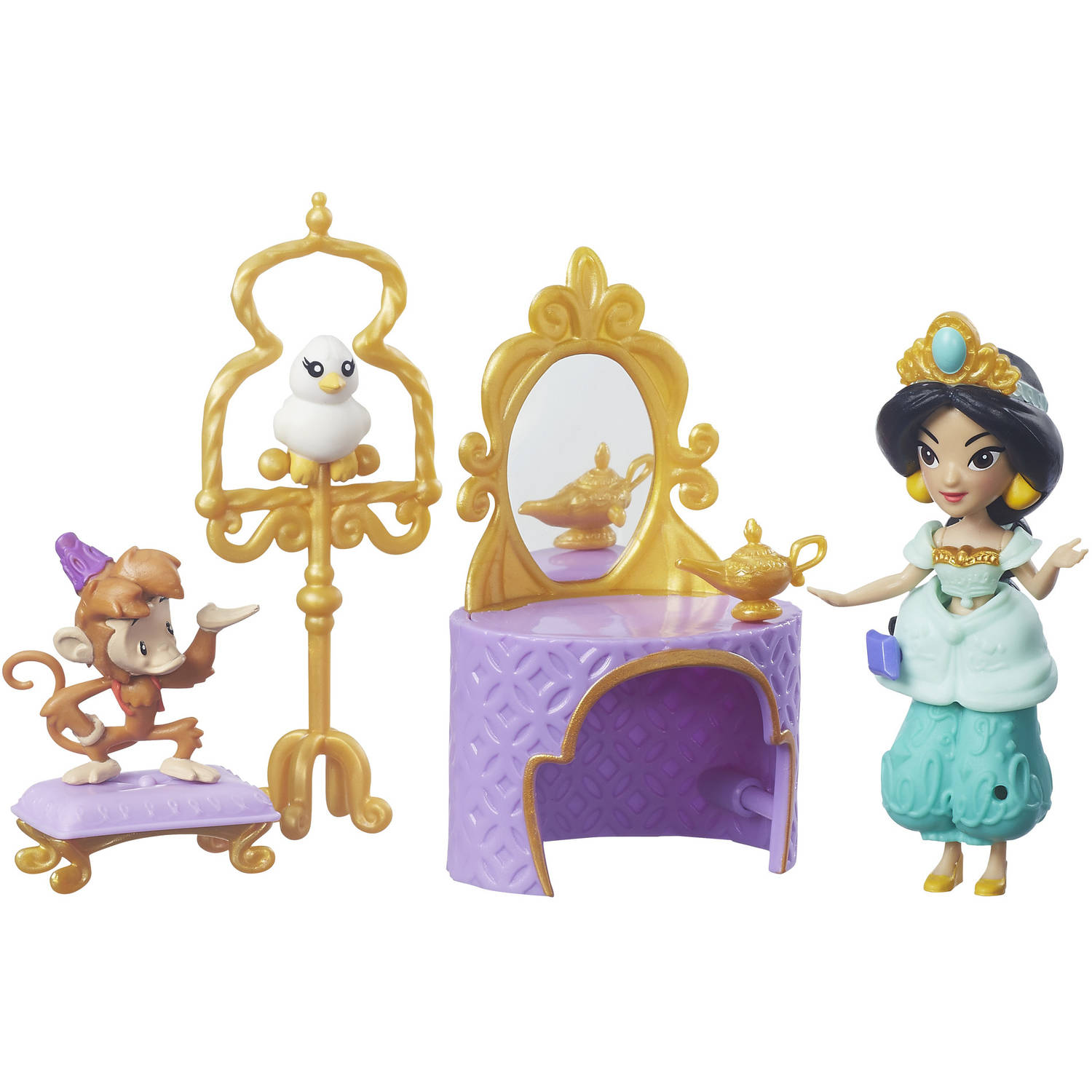 Disney Princess Little Kingdom Jasmine's Golden Vanity Set by Hasbro