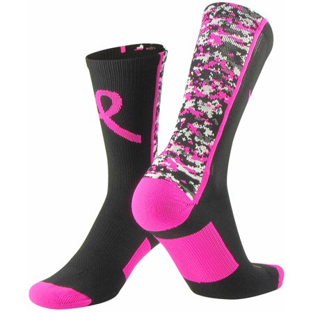 Twin City Digital Camo Breast Cancer Awareness Crew Socks