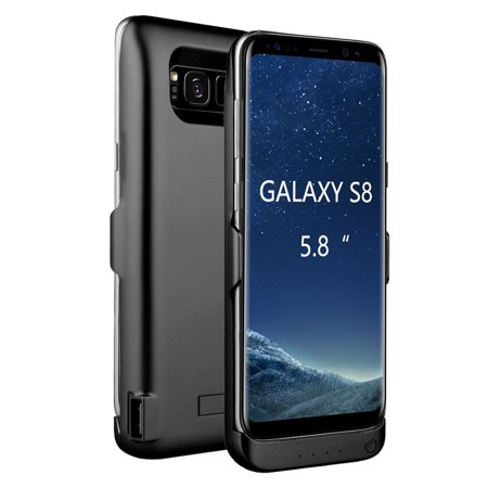 samsung galaxy s8 external battery backup case charger power bank 5500mah stand. Black Bedroom Furniture Sets. Home Design Ideas